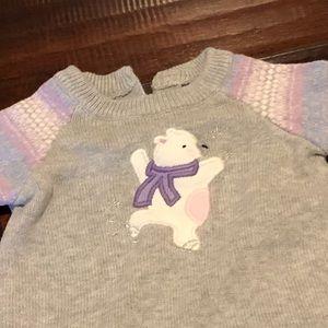 Gymboree Polar Bear Sweater Dress and tights